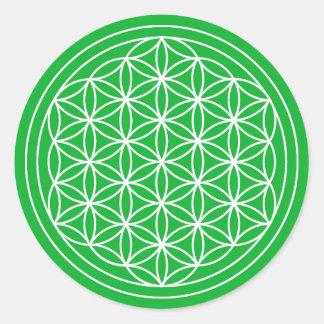 Green Flower of Life Sticker
