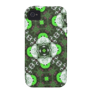 Green Flower Pattern Case For The iPhone 4