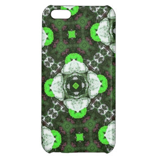 Green Flower Pattern Cover For iPhone 5C