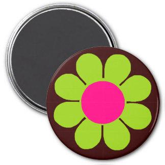 Green Flower Power Magnet