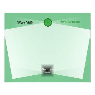 Green Flower Ribbon by Kenneth Yoncich 11.5 Cm X 14 Cm Flyer