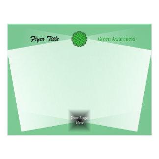 Green Flower Ribbon by Kenneth Yoncich 21.5 Cm X 28 Cm Flyer