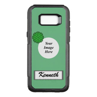 Green Flower Ribbon Template by Kenneth Yoncich OtterBox Commuter Samsung Galaxy S8+ Case