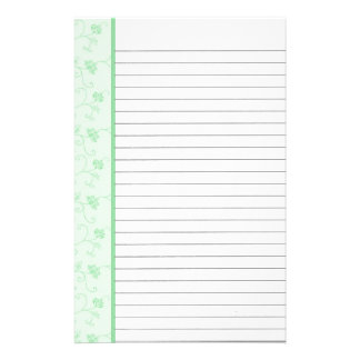 Green Flower Stationery