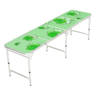 Green Flowers Pong Table