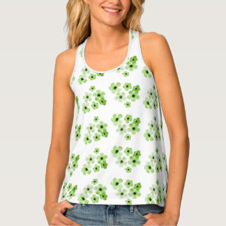 Green Flowers Singlet