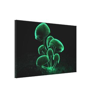 Green Fluorescence Canvas Print