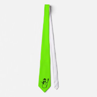 green fluorescent with a  snowman tie