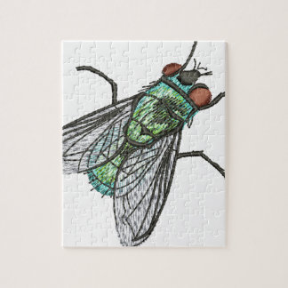 green fly jigsaw puzzle