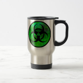 Green Fog Biohazard Symbol Travel Mug