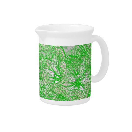 Green Foliage Pitcher