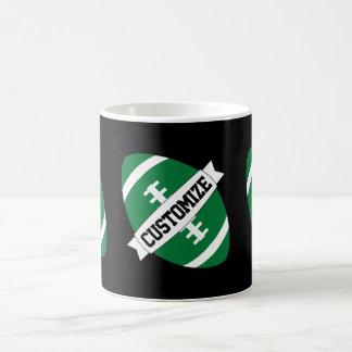 Green Football Coach / Fan Custom Team Name Coffee Coffee Mug