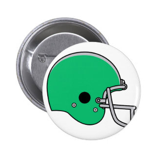 Green football helmet 6 cm round badge