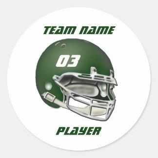 Green Football Helmet Sticker