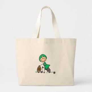 Green Football Player Bag