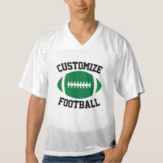 Green Football Team, Player & Number Custom Jersey