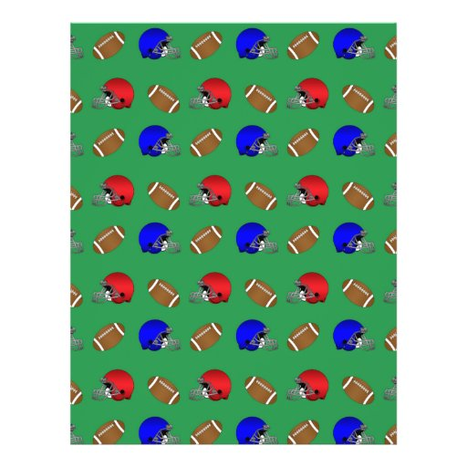 green footballs helmets pattern flyers