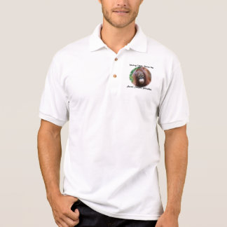 Green for people, primates, planet polo shirt