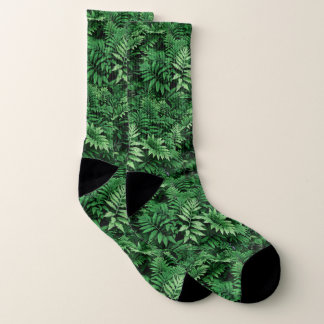 Green Forest Fern Socks: Go Earth-- 1