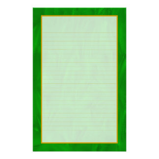 Green Forest Fine Lined Stationery