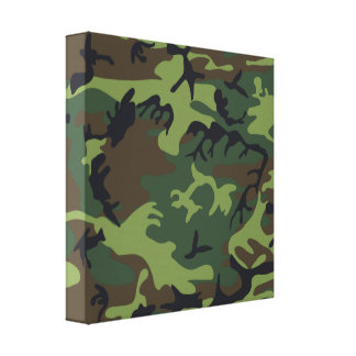Green Forest Military Camouflage Pattern Canvas Print