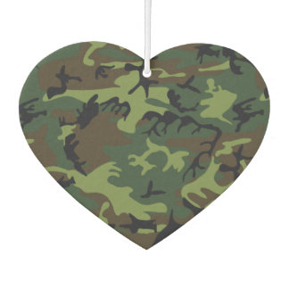 Green Forest Military Camouflage Pattern Car Air Freshener