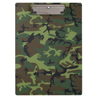 Green Forest Military Camouflage Pattern Clipboard