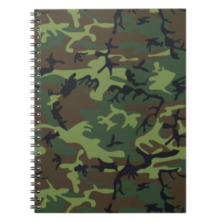 Green Forest Military Camouflage Pattern Notebook