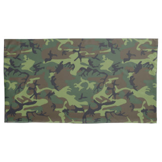 Green Forest Military Camouflage Pattern Pillowcase