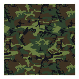 Green Forest Military Camouflage Pattern Poster