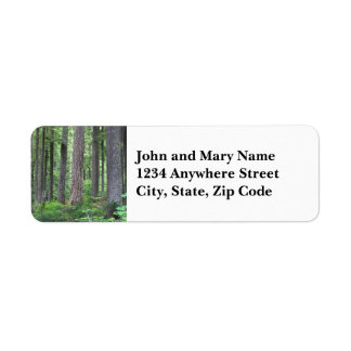 Green Forest Photo Return Address Label