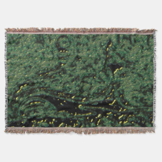 Green Formation Animation Throw Blanket