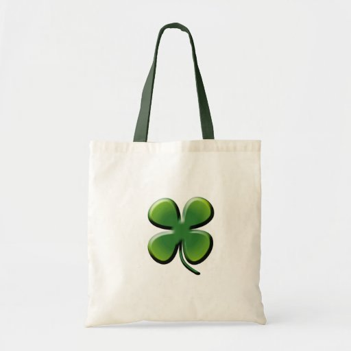 Green Four Leaf Clover Tote Bag
