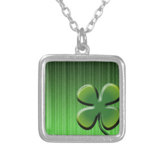 Green Four Leaf Clover Pendant