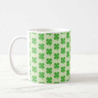 Green Four Leaf Clover Pattern Mug