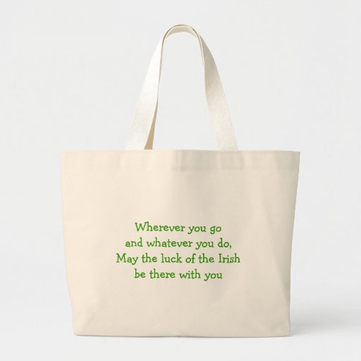 Green Four Leafed Clover Irish Luck Canvas Bag