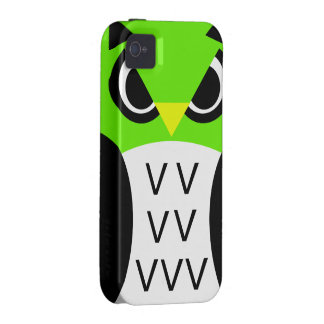 Green Fowl Owl Vibe iPhone 4 Cases