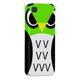 Green Fowl Owl iPhone 4/4S Covers