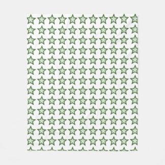 Green Fractal Art Blanket
