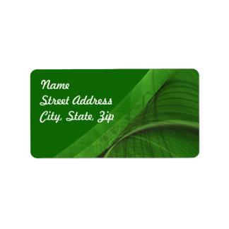 Green Fractal Background Address Sticker Address Label