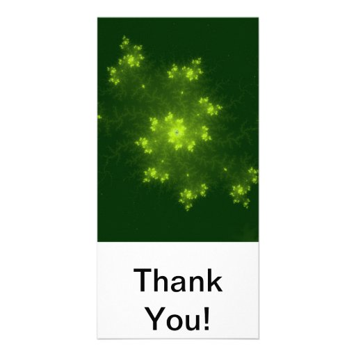 Green Fractal Photo Card Template