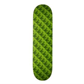 Green Fractal Skateboard Deck