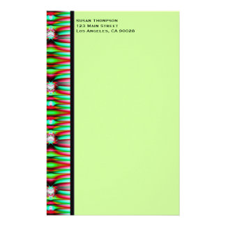 green fractal stationery
