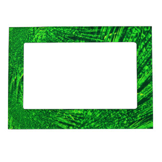 Green fractal texture. magnetic picture frame