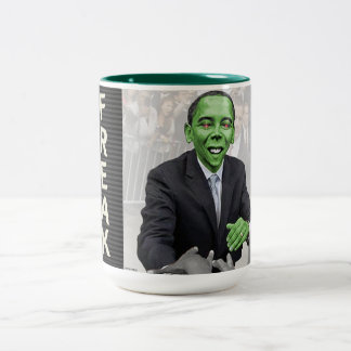 Green Freak Two-Tone Coffee Mug