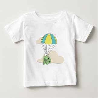 Green French Bulldog Umbrella Fun Kids Shirt