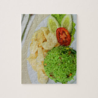Green Fried Rice Jigsaw Puzzle