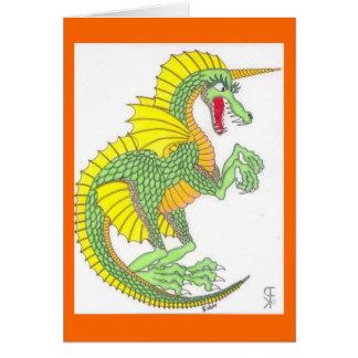 Green Frilled Dragon All-Occasion Card