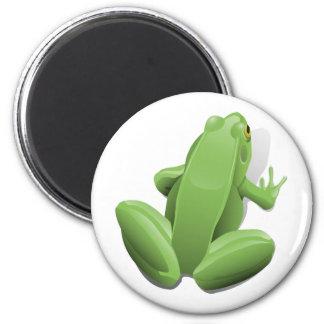 Green Frog 6 Cm Round Magnet