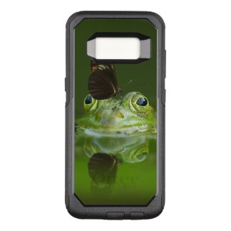 Green Frog and Butterfly OtterBox Commuter Samsung Galaxy S8 Case